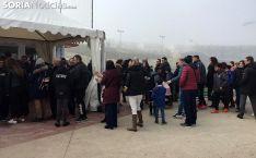 Una imagen del almuerzo solidario del CD Calasanz. /SN