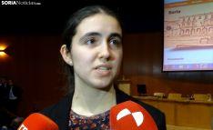 Ana Alcalde de la Fuente, antes de recoger su premio. /SN