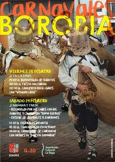 Programa de los Carnavales de Borobia.