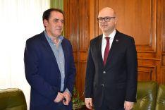 Serrano y Erginay este lunes en el Palacio Provincial.