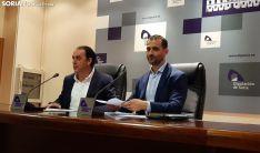 Benito Serrano y Enrique Rubio durante la rueda de prensa.
