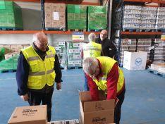 El subdelegado del gobierno en Soria, Miguel Latorre visita la sede del Banco de Alimentos