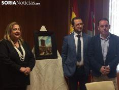 Devolución del cuadro 'Procesión a Noviercas' a la Diputación Provincial