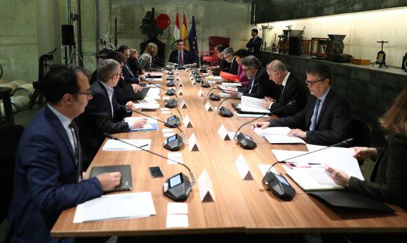 Una imagen de la reunión celebrada este viernes.