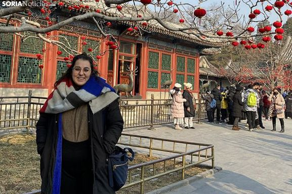 Cristina García, soriana en Tianjin (China).