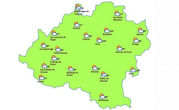 Pronóstico para las 14:00 horas. /eltiempo.es