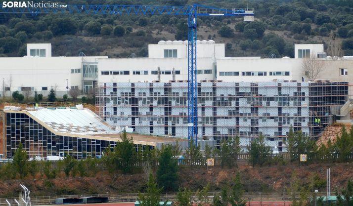 Estado hoy del edificio de I D del Campus Duques de Soria. /SN