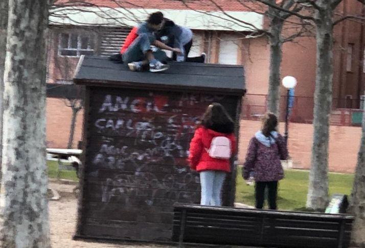 Imagen aportada por el grupo popular en el Ayuntamiento de Soria.
