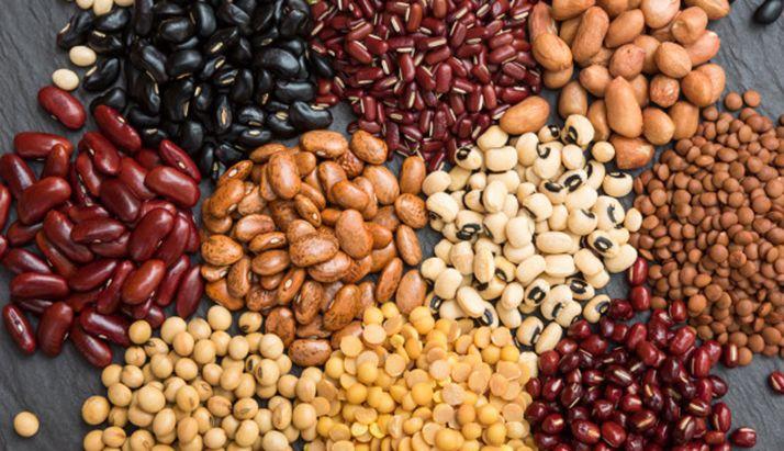 Diversos tipos de legumbres.