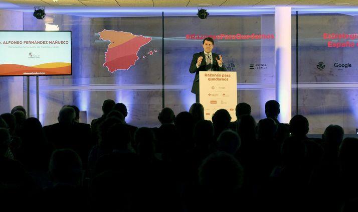 El presidente de la Junta en su intervención en Zamora este miércoles.
