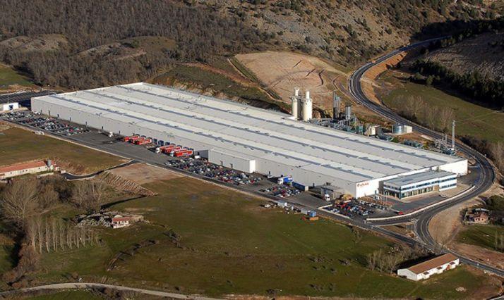 Vista aérea de la factoría.