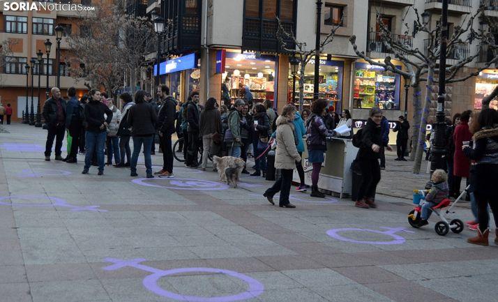 Una concentración feminista en la actual plaza de San Esteban. /SN