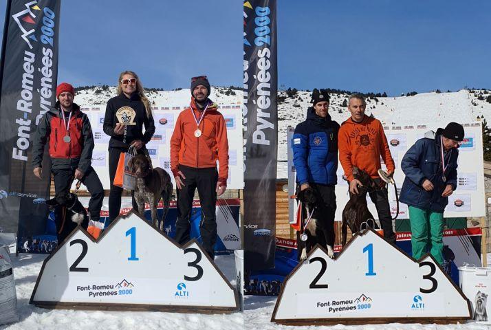 Los podios con los mushers de Ólvega.