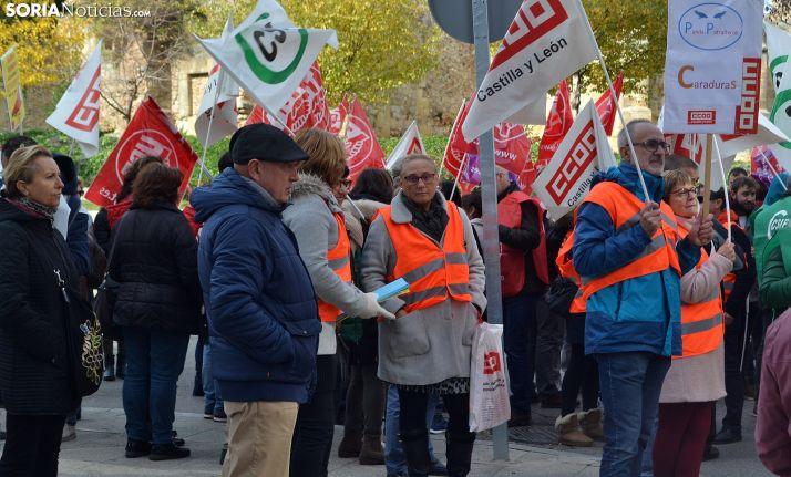 Una imagen de la concentración sindical celebrada en noviembre. /SN