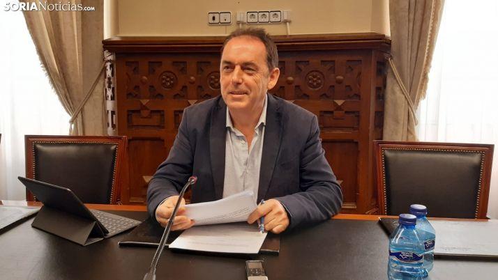 Benito Serrano instantes previos a la rueda de prensa.