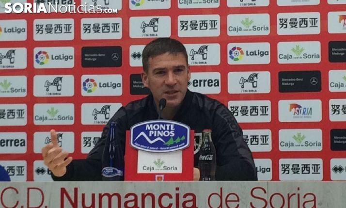 Luis Carrión, técnico del CD Numancia