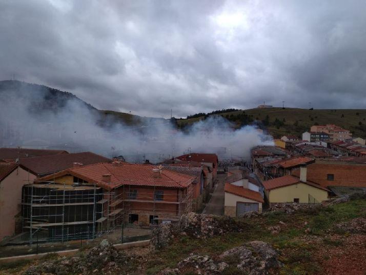 Incendio en una vivienda de San Leonardo de Yagüe