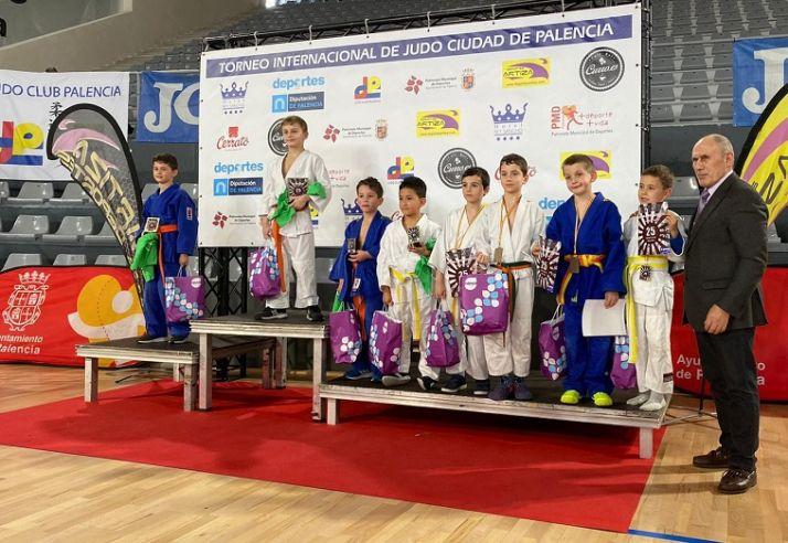 Medallistas del Torneo Ciudad de Palencia de judo.