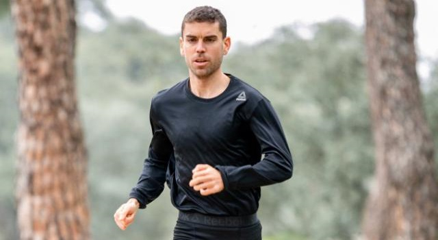 Jaime González Mancha durante otra prueba deportiva.