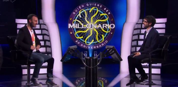 Javi Miralles en el programa Quien Quiere Ser Millonario de Antena 3