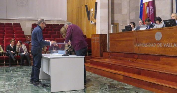 Votación en la Universidad de Valladolid