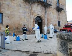 Servicio de desinfección de los Bomberos de Soria.