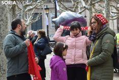 Inauguración de la plaza de Las Mujeres en Soria.