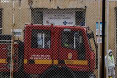 La UME ha realizado tareas de desinfección en Soria. /Viksar Fotografía