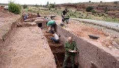 Trabajos realizados el verano pasado en la muralla de Tiermes. /Jta.