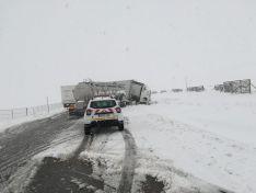 Foto 6 - Accidente entre dos camiones en Noviercas