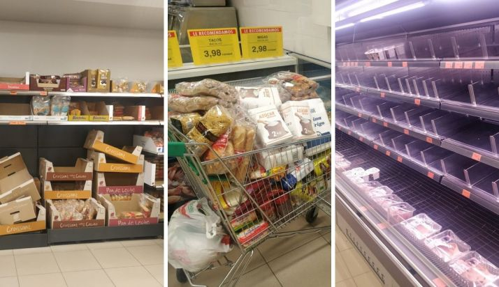 Coronavirus: Así están ahora mismo los supermercados sorianos (FOTOS)