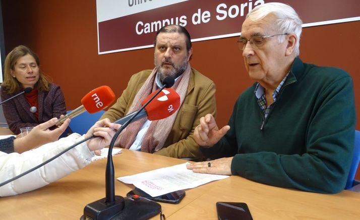 Gloria Gonzalo, José Luis Ruiz y Eduardo Lallana. /SN