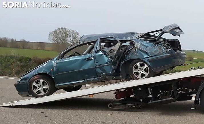 Una imagen del vehículo tras el siniestro. /SN