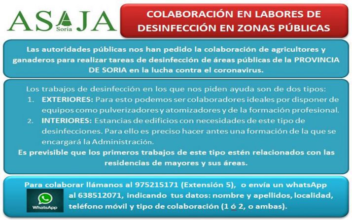 El llamamiento de ASAJA Soria en las redes sociales