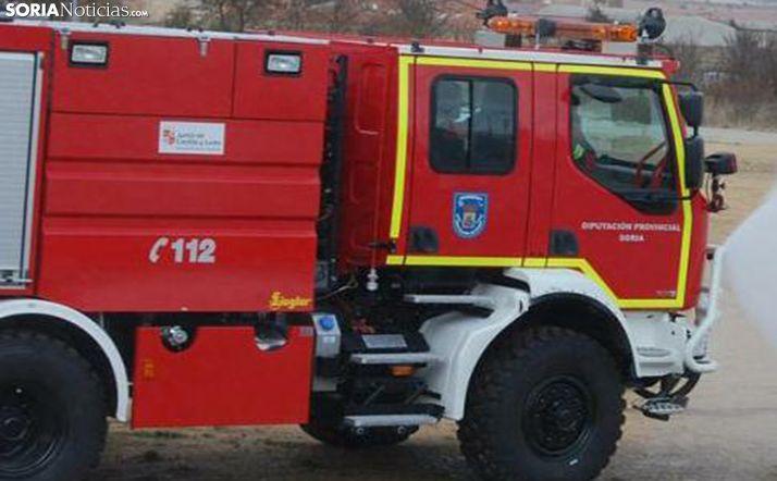 Un camión de los bomberos de Ólvega en una imagen de archivo. /SN