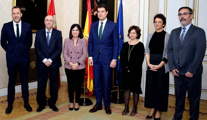 Los participantes en la reunión en el Ministerio. /Jta.