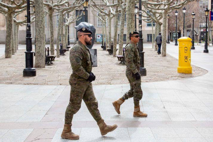El Ejército de Tierra en Soria capital. /María Ferrer