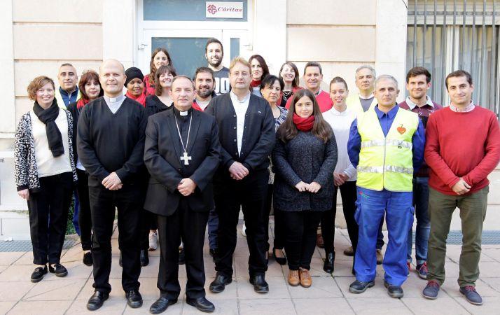 El equipo de Cáritas de Osma-Soria. /DOS