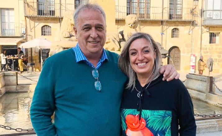 Marín y Lafuente, tras anunciar su candidatura.