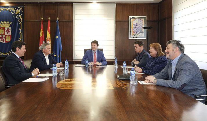 Reunión con la Asociación de Comarcas Mineras. /Jta.
