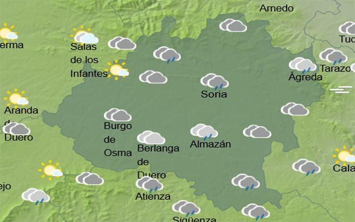 Los cielos en la provincia a las 15:00 horas. /AEMET