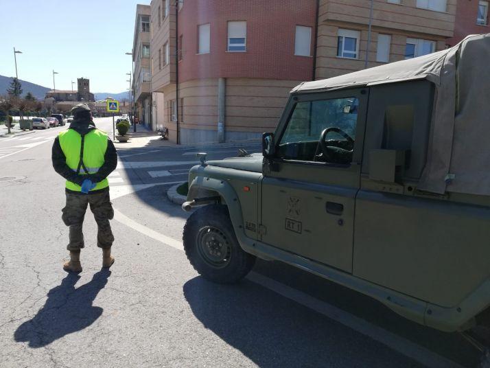 Foto 2 - El ejército actúa en Ólvega contra el Covid 19