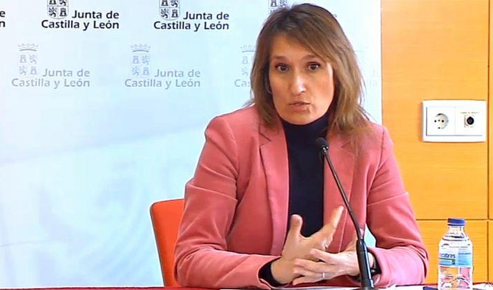 La consejera soriana Rocío Lucas este lunes en rueda de prensa hoy. /SN