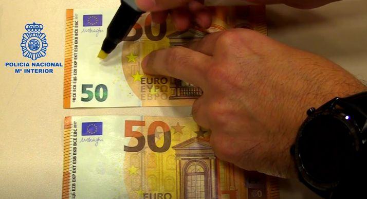 Foto 1 - La Policía Nacional advierte de que el uso del rotulador detector de billetes falsos no siempre es efectivo