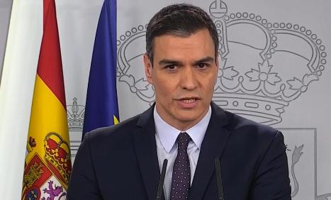Sánchez durante la rueda de prensa.
