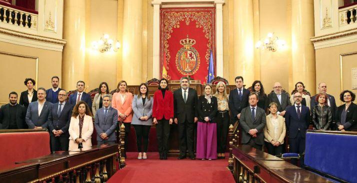 Participantes este lunes en la Conferencia Sectorial de Cultura, celebrada en el Senado.