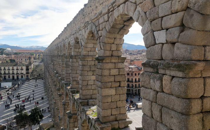 Una imagen del acueducto de Segovia.