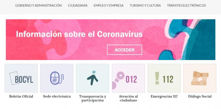 Web de la Junta de Castilla y Léon.