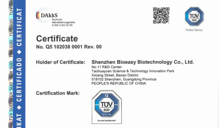 Detalle del certificado.
