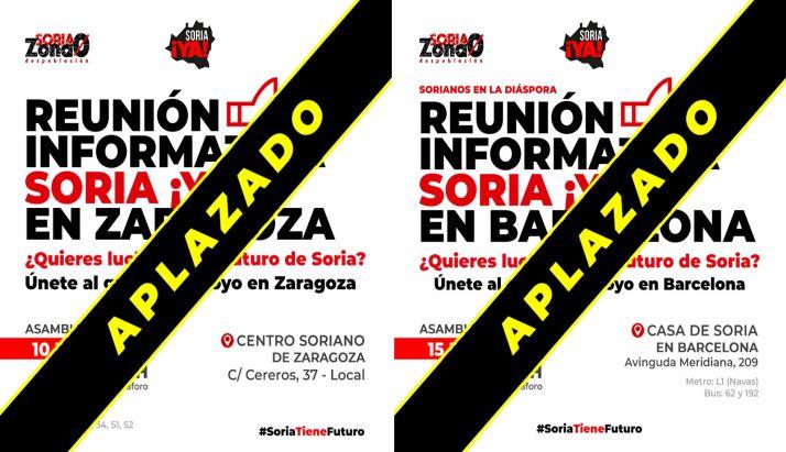 Foto 1 - La Soria Ya pospone actos en Zaragoza y Barcelona